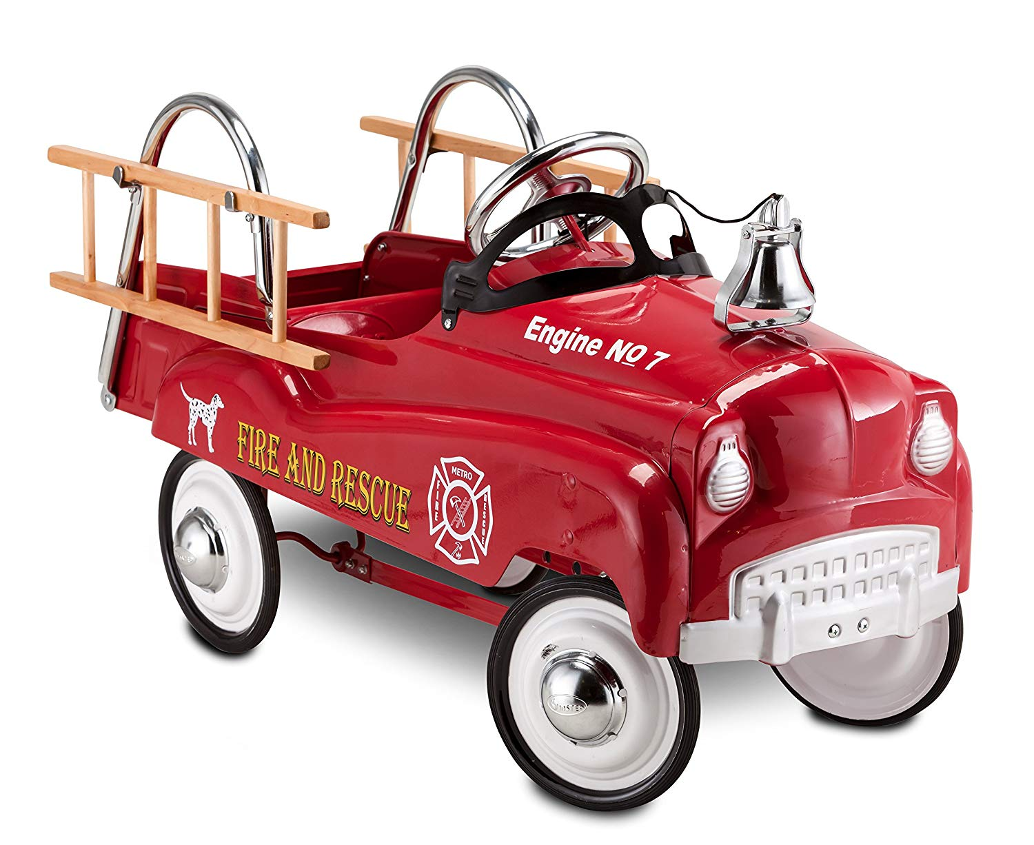 Fire Truck Pedal Car For Kids - Cool Pedal Cars-3791